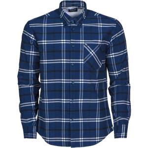 James Harvest-James Harvest Brigham Gents Shirts-S / NAVY/WHITE-Uniform Wholesalers