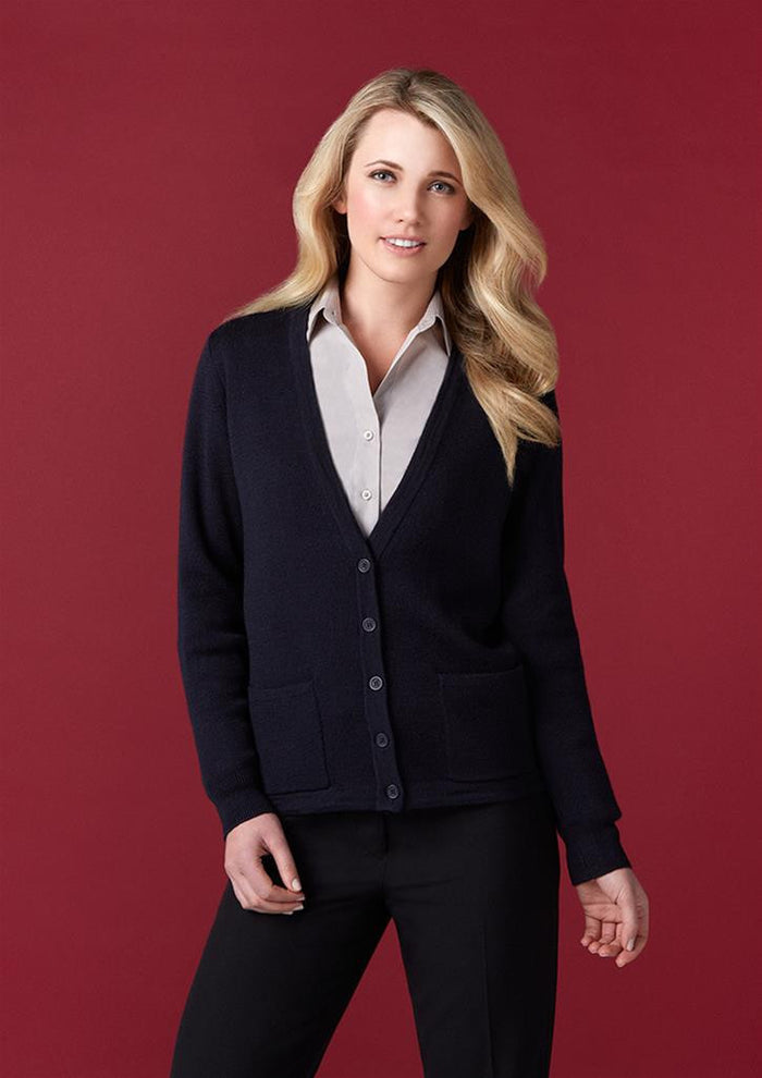 Biz Collection Ladies Button Through Woolmix Cardigan (LC8008)