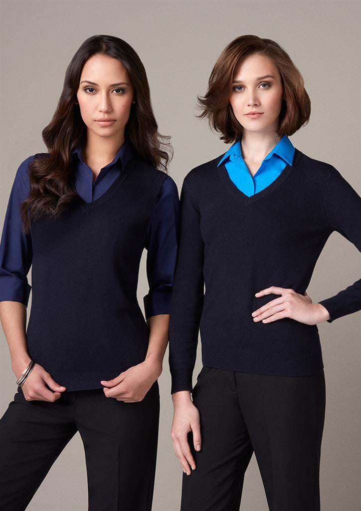 Biz Collection-Biz Collection Ladies V Neck Pullover--Uniform Wholesalers - 1