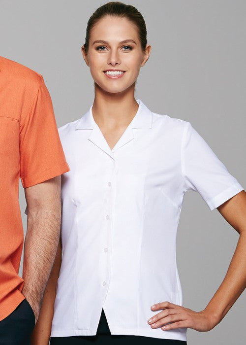 Aussie Pacific-Aussie Pacific Lady Springfield Short Sleeve Shirt  2nd ( 2 Colour )--Uniform Wholesalers