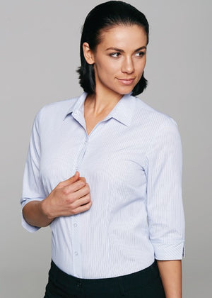 Aussie Pacific-Aussie Pacific Lady Bayview 3/4 Sleeve Shirt--Uniform Wholesalers