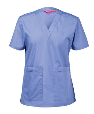 JB's Wear-JB's Ladies Scrubs Top-Lt. Blue / 6-Uniform Wholesalers - 3