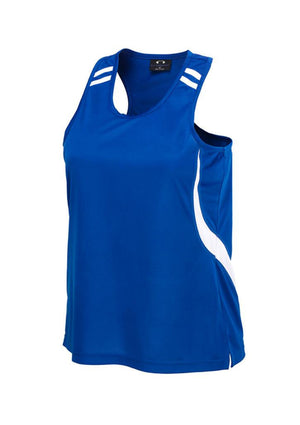 Biz Collection-Biz Collection Ladies Flash Singlet 2nd (6 colour)-Royal/White / 6-Uniform Wholesalers - 7