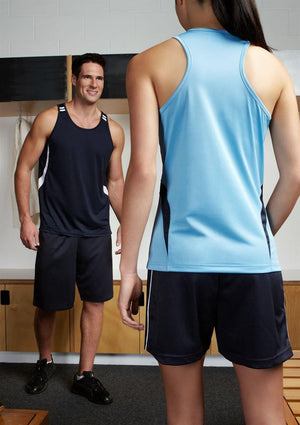 Biz Collection-Biz Collection Mens Flash Singlet 2nd ( 2 Colour )--Uniform Wholesalers - 1