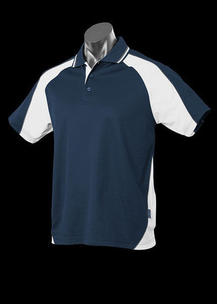 Aussie Pacific-Aussie Pacific Kid's Panorama Polo-Navy/White/Ashe / 4-Uniform Wholesalers - 12