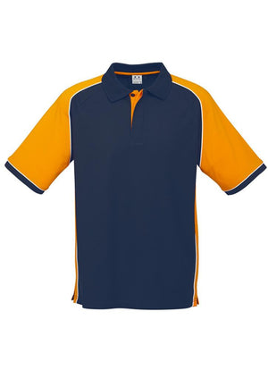 Biz Collection-Biz Collection Mens Nitro Polo-Navy / Gold / White / S-Uniform Wholesalers - 11