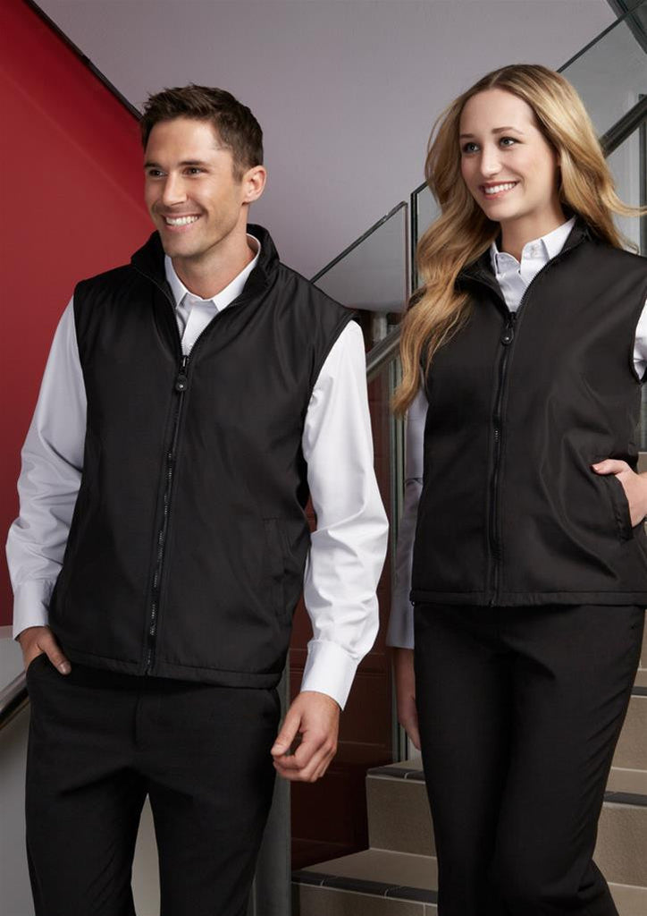 Biz Collection-Biz Collection Unises Reversible Vest--Uniform Wholesalers - 1