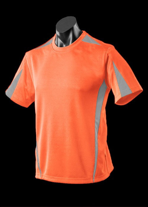 Aussie Pacific-Aussie Pacefic Kid's Eureka Tee 2nd (11 Color)-Orange/Charcoal / 6-Uniform Wholesalers - 2