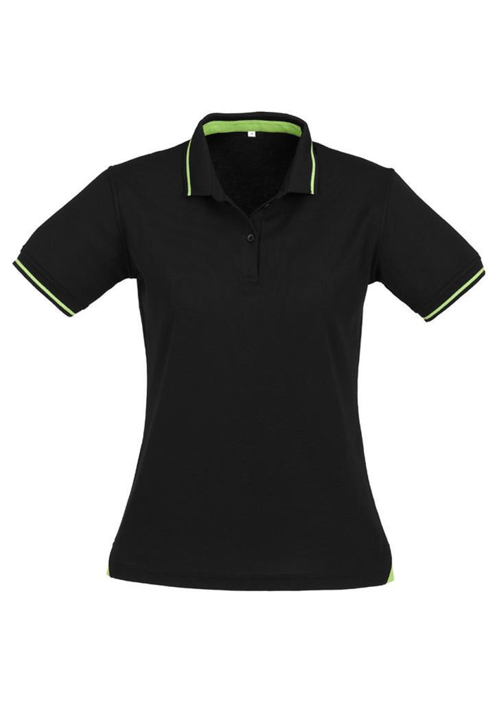 Biz Collection-Biz Collection Ladies Jet Polo-Bright Green / Black / 8-Uniform Wholesalers - 3