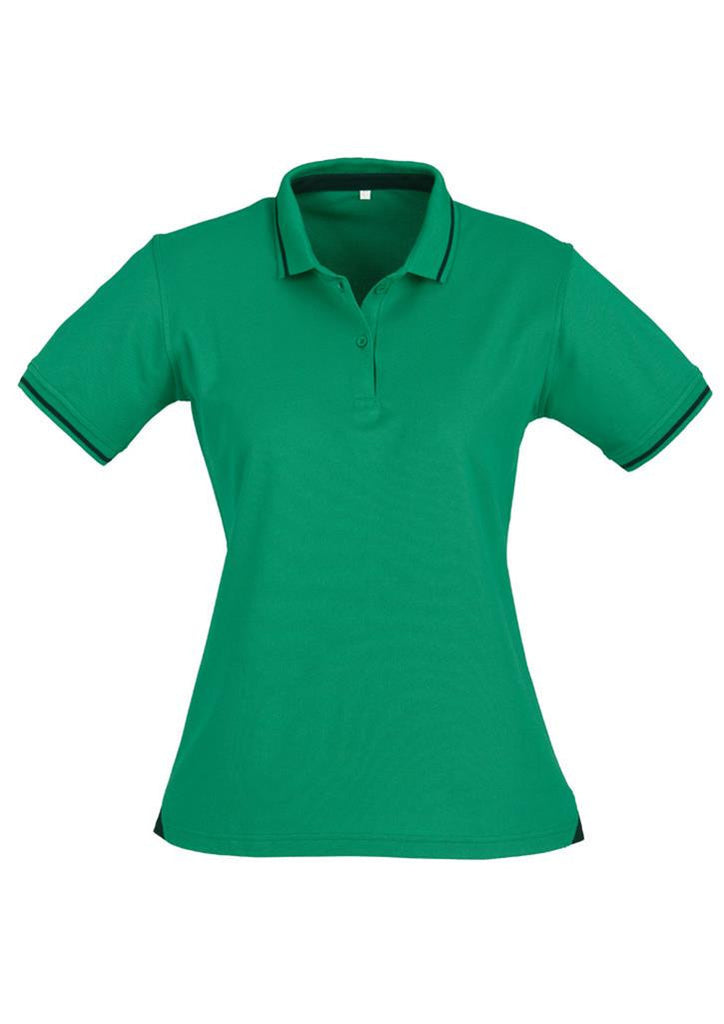 Biz Collection-Biz Collection Ladies Jet Polo-Navy / Emerald / 10-Uniform Wholesalers - 5