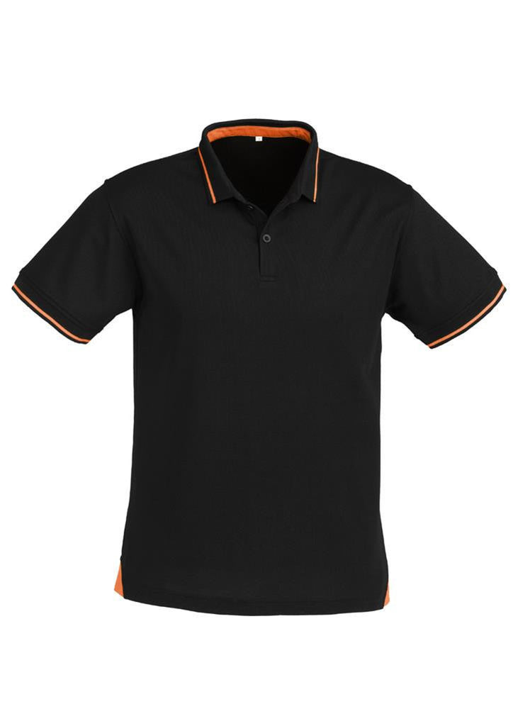 Biz Collection-Biz Collection Mens Jet Polo-Black / Orange / Small-Uniform Wholesalers - 4