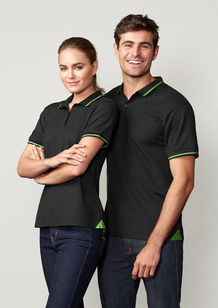 Biz Collection-Biz Collection Mens Jet Polo--Uniform Wholesalers - 3