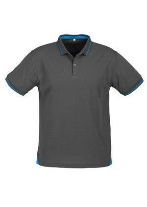 Biz Collection-Biz Collection Mens Jet Polo-Steel Grey / Cyan / Small-Uniform Wholesalers - 6