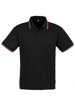 Biz Collection-Biz Collection Mens Cambridge Polo-Black / Red / White / Small-Uniform Wholesalers - 2