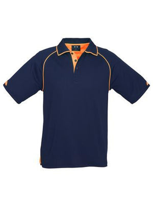 Biz Collection-Biz Collection Mens Fusion Polo-Navy / Fluro Orange / Small-Uniform Wholesalers - 4