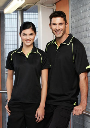 Biz Collection-Biz Collection Mens Fusion Polo--Uniform Wholesalers - 5