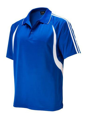 Biz Collection-Biz Collection Mens  Flash Polo 2nd ( 6 Colour )-Royal / White / Small-Uniform Wholesalers - 4