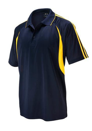 Biz Collection-Biz Collection Mens  Flash Polo 2nd ( 6 Colour )-Navy / Gold / Small-Uniform Wholesalers - 3