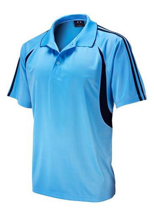 Biz Collection-Biz Collection Mens  Flash Polo 2nd ( 6 Colour )-Spring Blue / Navy / Small-Uniform Wholesalers - 6