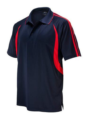 Biz Collection-Biz Collection Mens  Flash Polo 2nd ( 6 Colour )-Navy / Red / Small-Uniform Wholesalers - 5