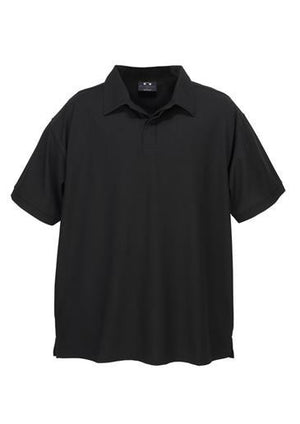 Biz Collection-Biz Collection Mens Micro Waffle Polo-Black / Small-Uniform Wholesalers - 3