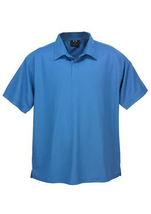 Biz Collection-Biz Collection Mens Micro Waffle Polo-Azure Blue / Small-Uniform Wholesalers - 2