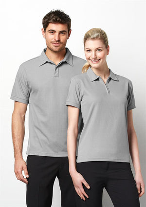 Biz Collection-Biz Collection Mens Micro Waffle Polo--Uniform Wholesalers - 1