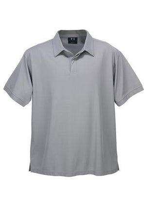 Biz Collection-Biz Collection Mens Micro Waffle Polo-Silver Grey / Small-Uniform Wholesalers - 5