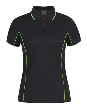 JB's Wear-JB's Podium Ladies Piping Polo 2nd (8 Colours)-BLACK/PEA GREEN / 8-Uniform Wholesalers - 11