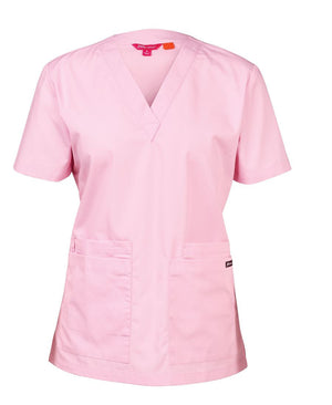 JB's Wear-JB's Ladies Scrubs Top-Pink / 6-Uniform Wholesalers - 5