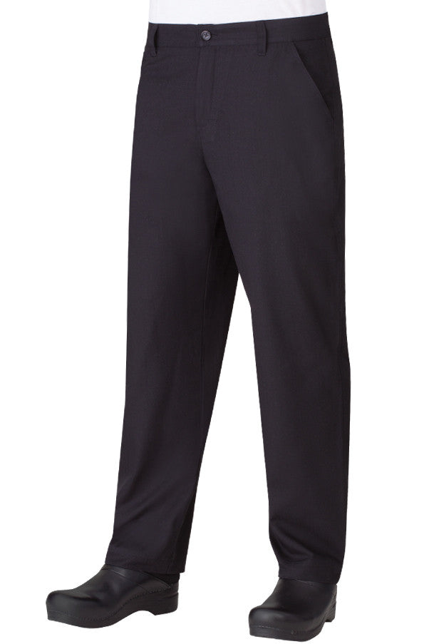 Chef Works-Chef Works Men's Black Constructed Chef Pants-28 / Black-Uniform Wholesalers - 1