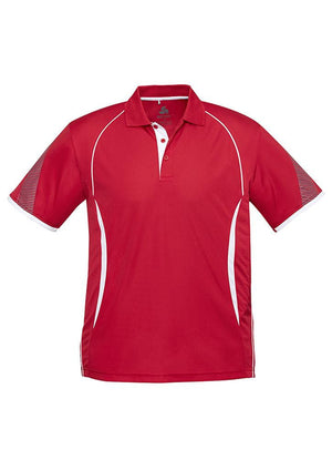 Biz Collection-Biz Collection  Mens Razor Polo-Red/White / S-Uniform Wholesalers - 6