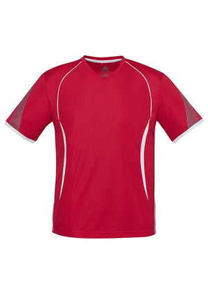 Biz Collection-Biz Collection Mens Razor Tee-Red/White / S-Uniform Wholesalers - 8