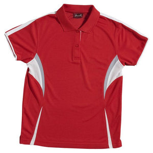 JB's Wear-JB's Podium Ladies Cool Polo-Red/White/Grey / 8-Uniform Wholesalers - 4