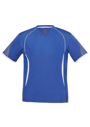 Biz Collection-Biz Collection Mens Razor Tee-Royal/White / S-Uniform Wholesalers - 9