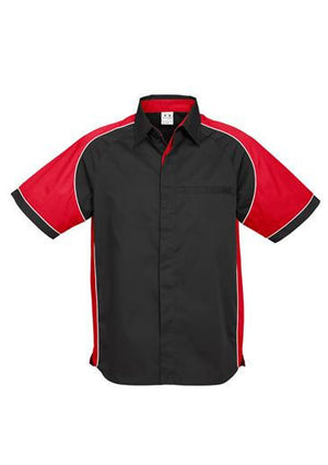 Biz Collection-Biz Collection Mens Nitro Shirt-Black / Red / White / S-Uniform Wholesalers - 7