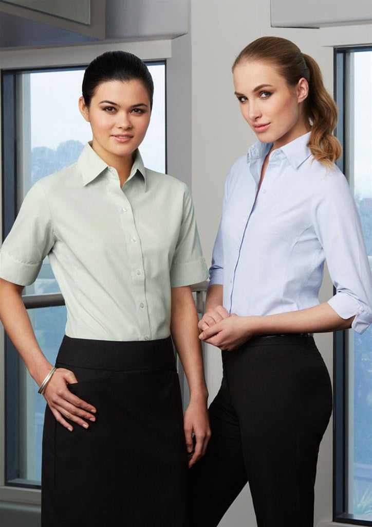 Biz Collection-Biz Collection Ladies Ambassador Shirt-3/4 Sleeve--Uniform Wholesalers - 1