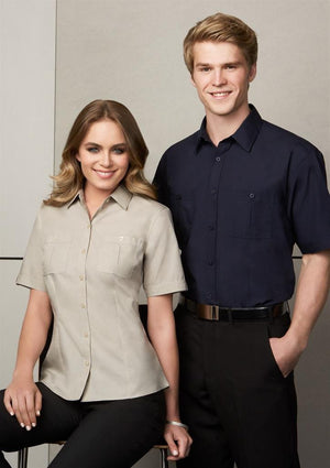 Biz Collection-Biz Collection Mens Bondi Short Sleeve Shirt--Corporate Apparel Online - 1