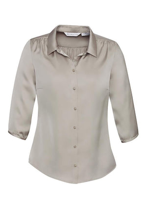 Biz Collection-Biz Collection Ladies Shimmer Blouse-Champange / 6-Corporate Apparel Online - 3