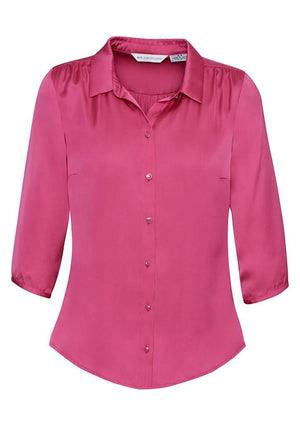 Biz Collection-Biz Collection Ladies Shimmer Blouse-Poppy / 6-Corporate Apparel Online - 6