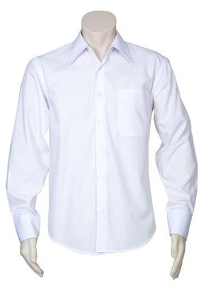 Biz Collection-Biz Collection Mens Metro Long Sleeve Shirt-White / S-Uniform Wholesalers - 2