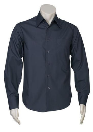 Biz Collection-Biz Collection Mens Metro Long Sleeve Shirt-Charcoal / S-Uniform Wholesalers - 9
