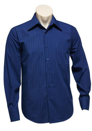 Biz Collection-Biz Collection Mens Manhattan Long Sleeve Shirt-French Blue / White / S-Uniform Wholesalers - 6