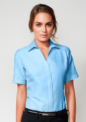 Biz Collection-Biz Collection Preston Ladies Short Sleeve Shirt--Uniform Wholesalers - 1