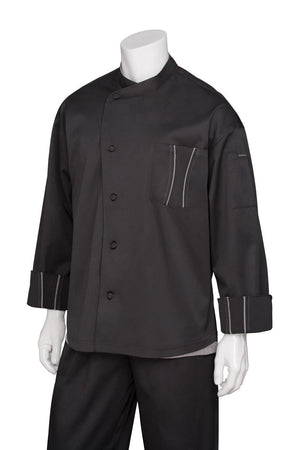 Chef Works-Chef Works Amalfi Signature Series Chef Jacket-XS / Black-Uniform Wholesalers - 1