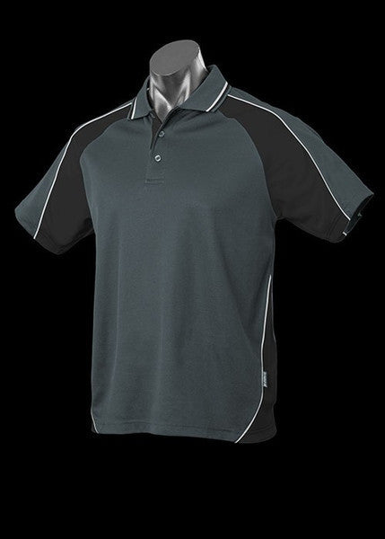 Aussie Pacific-Aussie Pacific Kid's Panorama Polo-Slate/Black/White / 4-Uniform Wholesalers - 15