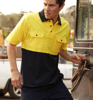 Bocini-Bocini Hi-Vis Cotton Jersey Polo--Uniform Wholesalers - 1