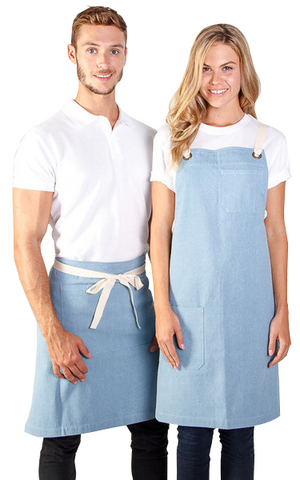 identitee-Identitee Charlie Denim Waist Apron-Vintage Denim / One Size-Uniform Wholesalers - 1
