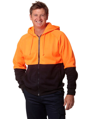 Winning Spirit-Winning Spirit Men's High Visibility Two Tone Fleecy Hoodie--Uniform Wholesalers - 1