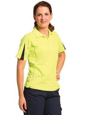 Winning Spirit-Winning Spirit Ladies' TrueDry® Hi-Vis Polo with Reflective Piping--Uniform Wholesalers - 1